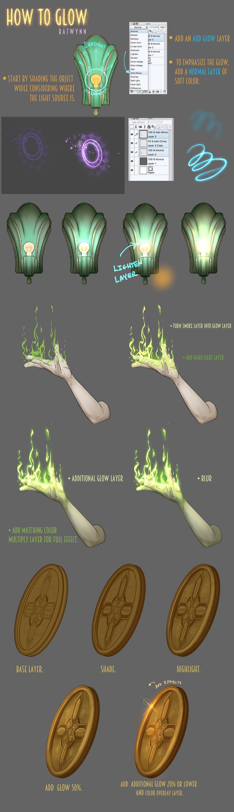 How To Create Glowing Effects by Batwynn