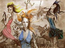Mermaids version 2 by franciart
