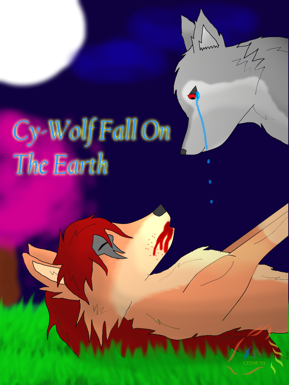 About my anime story from Ceeme521 Cy_Wolf_fall_on_the_World_by_ceeme521