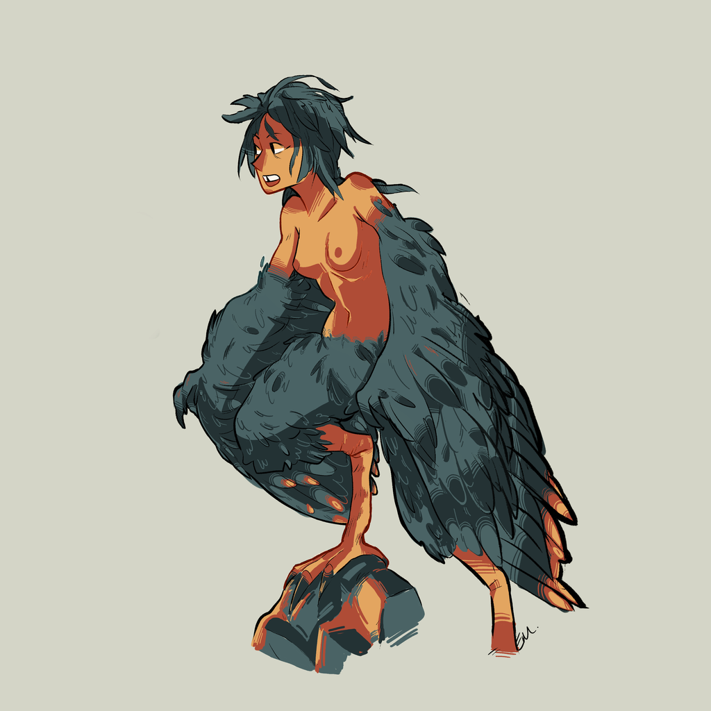 day 1 harpy by natural gas on deviantart