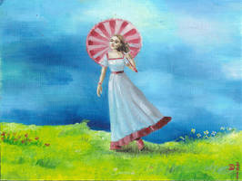 405780 Girl with Parasol by v-e-y-a