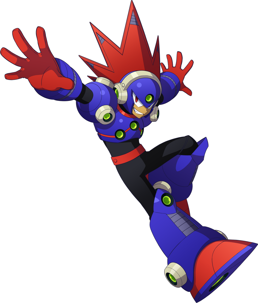 Megaman 11 Blastman render by falconburst322