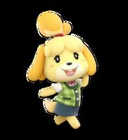 Super Smash bros Ultimate Render #70: Isabelle by falconburst322
