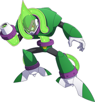 Megaman 11 Acid Man render by falconburst322