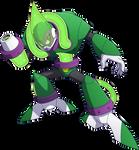 Megaman 11 Acid Man render