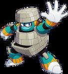 Megaman 11 Block Man render
