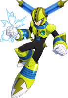Megaman 11 Fuse Man render by falconburst322