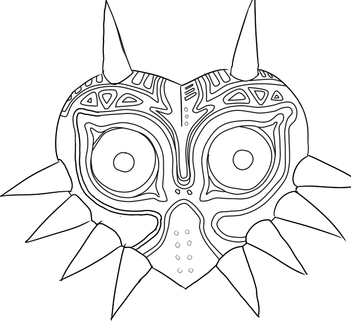 Majoras wrath coloring pages ~ Majora's Mask Linework by SoSaucy on DeviantArt