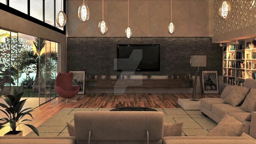 Interior Test Render by Arch-M-Mohsen