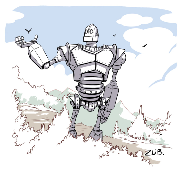 how to draw the iron giant