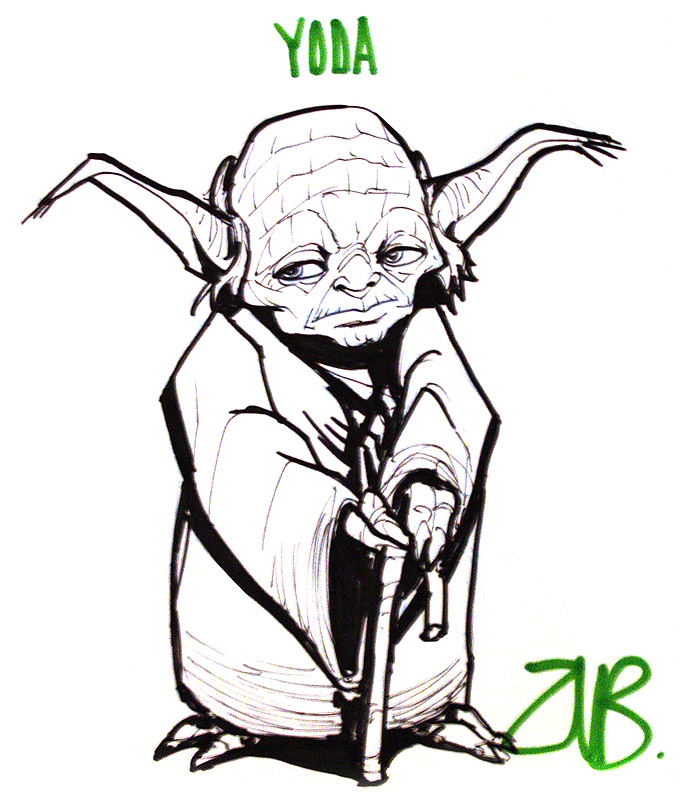 Yoda Face Drawing Ahj toronto - yoda by zubbyYoda Face Drawing