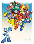 Zub's Mega Man Tribute Pin-Up