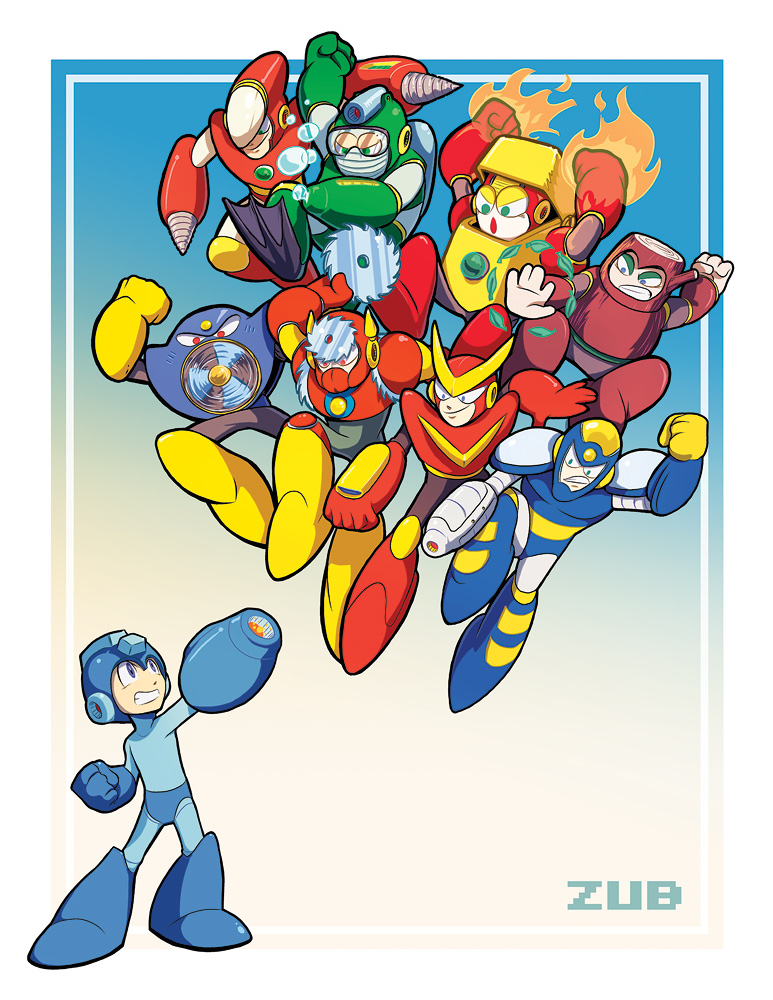 Zub's Mega Man Tribute Pin-Up by Zubby