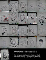 Zub PAX East Head Sketches by Zubby