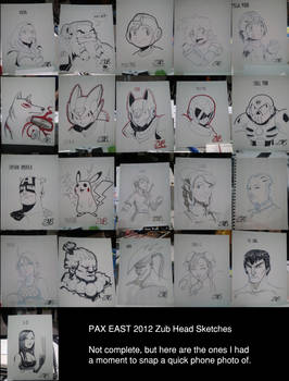 Zub PAX East Head Sketches