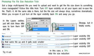 Photoshop File Reduction Trick