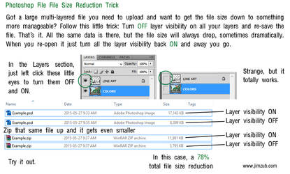 Photoshop File Reduction Trick