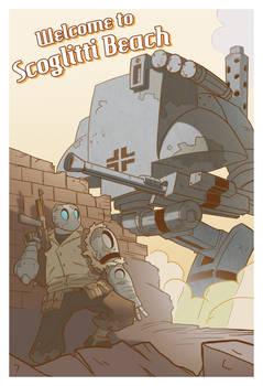 Atomic Robo Postcard