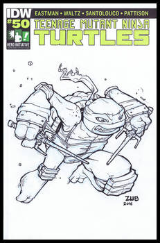 TMNT 100 Hero Initiative Sketch Cover