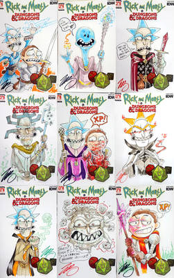 Rick and Morty VS DnD Sketch Covers Gen Con 2019