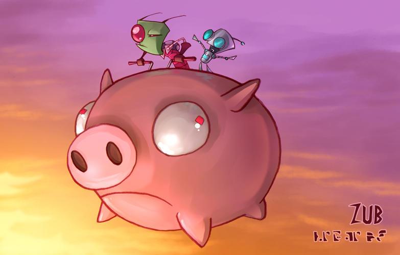 invader zim pig wallpaper