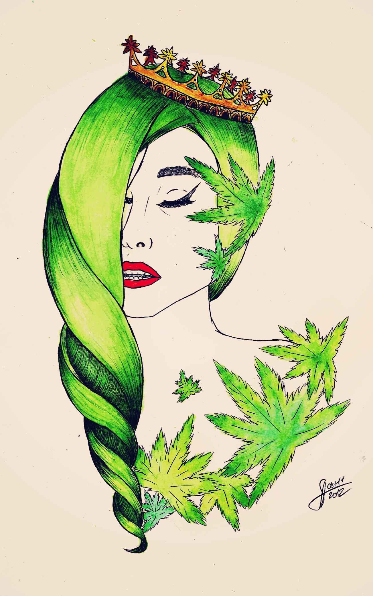 Gaga cannabis princess by Ritorumonsuta - 653.8KB
