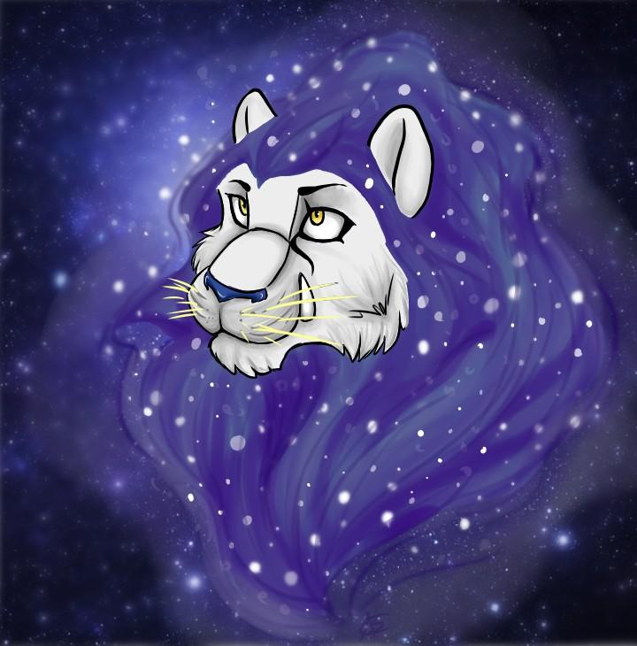 Nebula Lion by DeadNekoLuv
