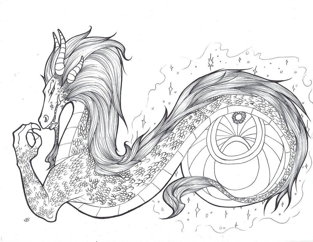 Dragon Tat Commission by DeadNekoLuv