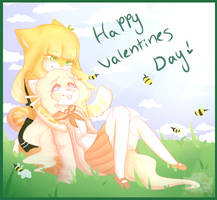 Honey and the bee by Cxstelia