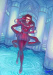 Lisa Lisa standing on the water