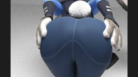 Judy Hopps Big Fat Butt Closeup