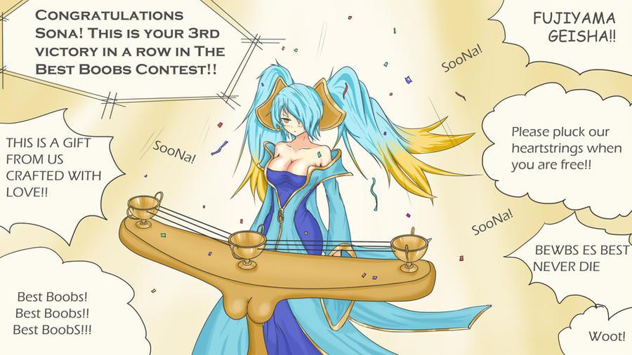 "Sona Winning ""Best Boobs Contest 2012"" by Lazuul"