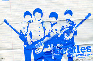 The Beatles Blue Wallpaper by IshaanMishra