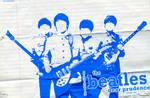 The Beatles Blue Wallpaper