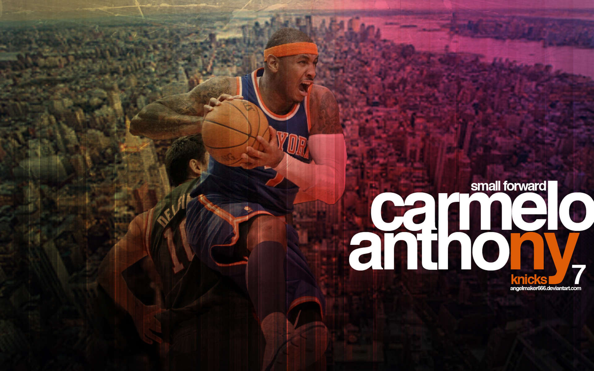 Melo New York Knicks Wallpaper by Angelmaker666