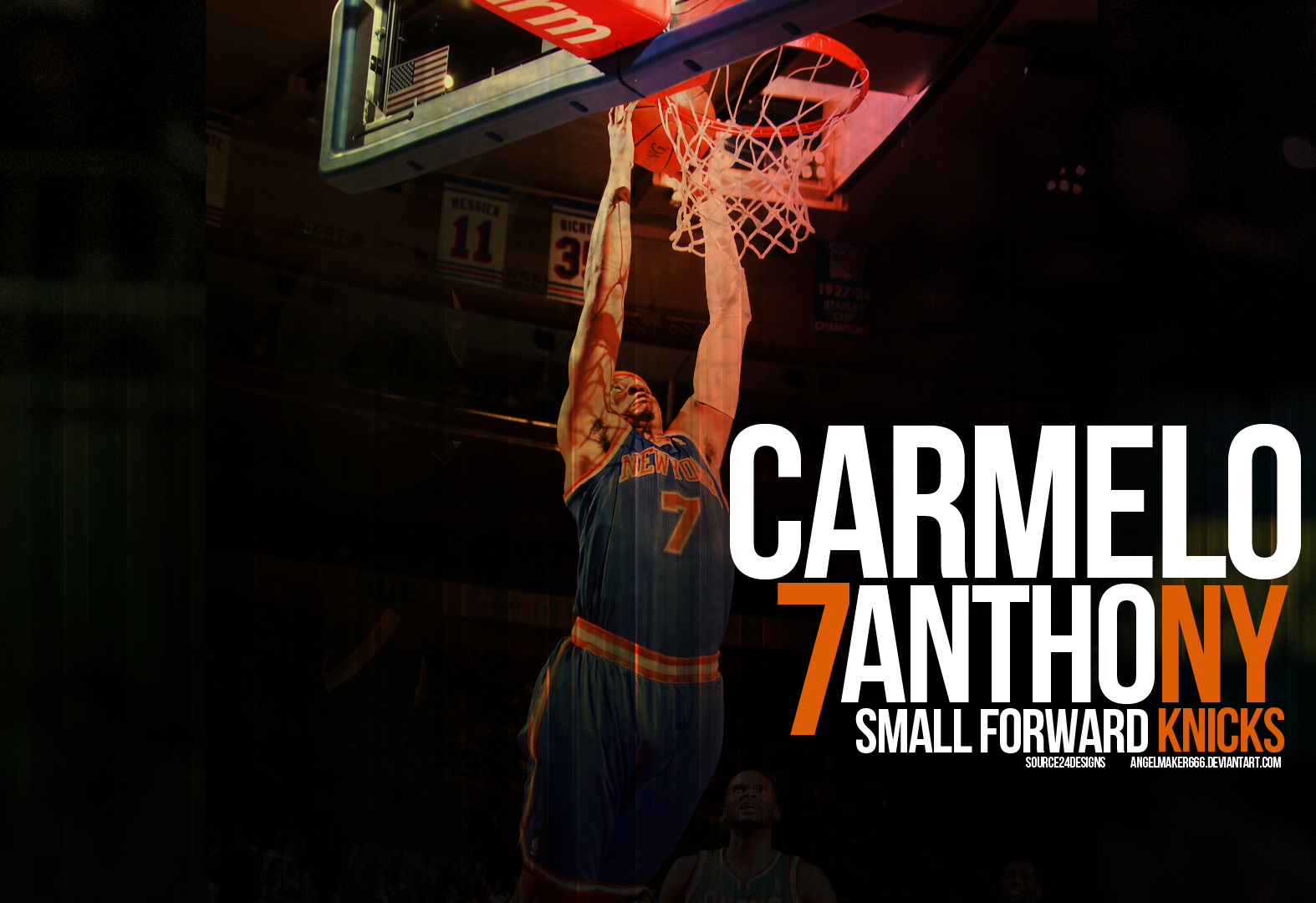 Carmelo Anthony Knicks Wall 5 By IshaanMishra