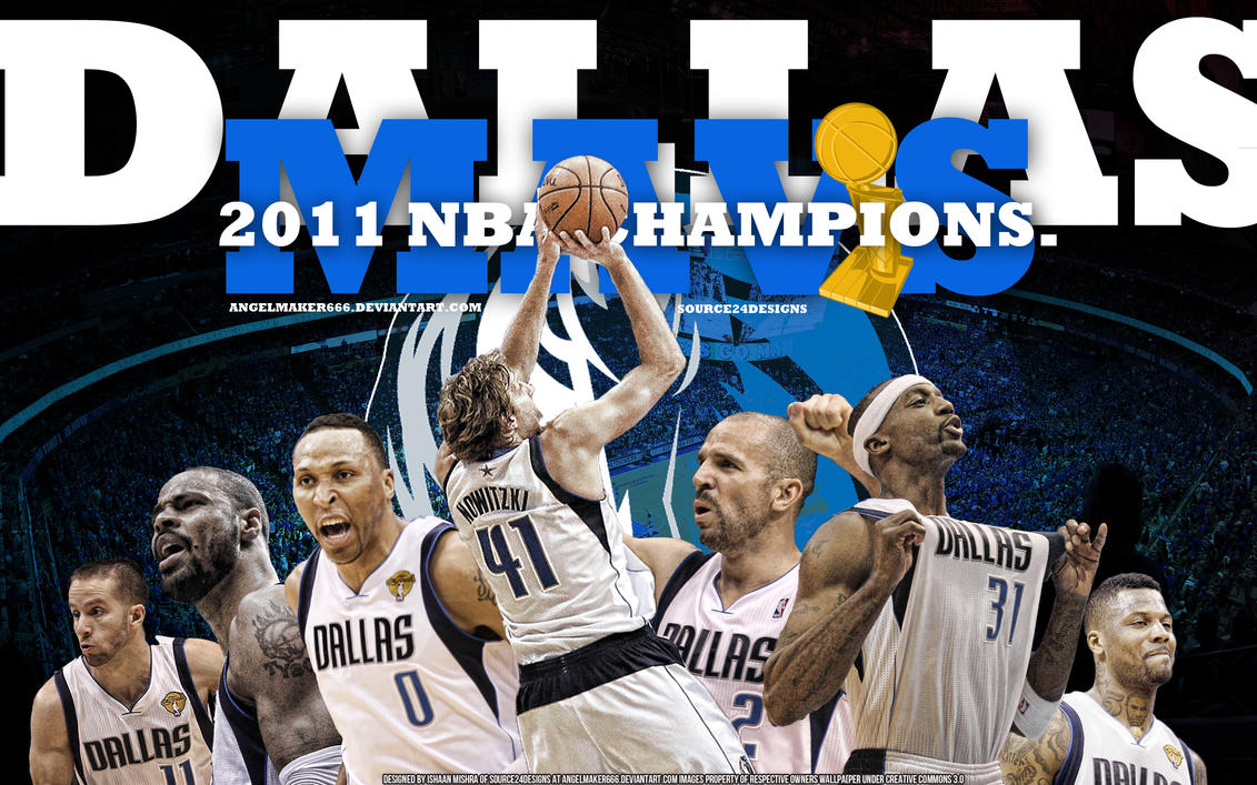 Mavs 2011 NBA Champions Wall by IshaanMishra