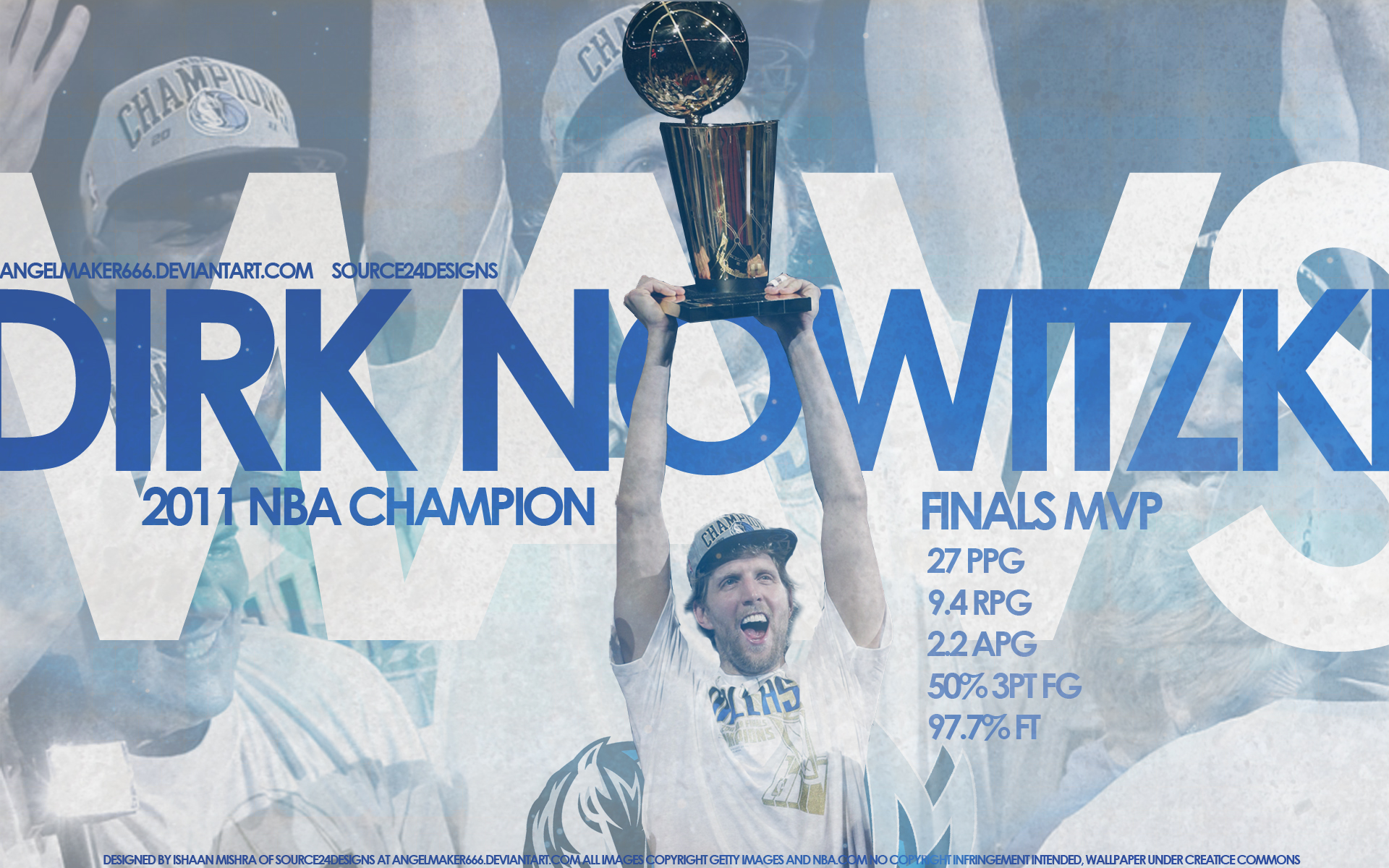 Dirk Nowitzki Finals Wallpaper by IshaanMishra