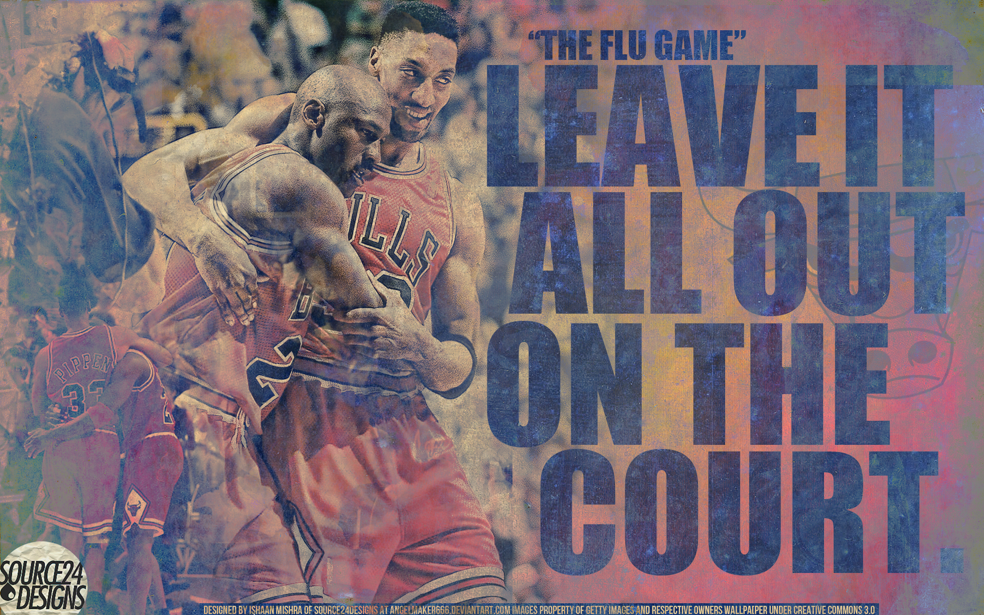 Michael Jordan Flu Game Wall By Ishaanmishra On Deviantart