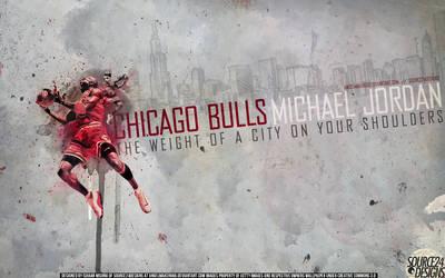 Michael Jordan Bulls Wallpaper by IshaanMishra