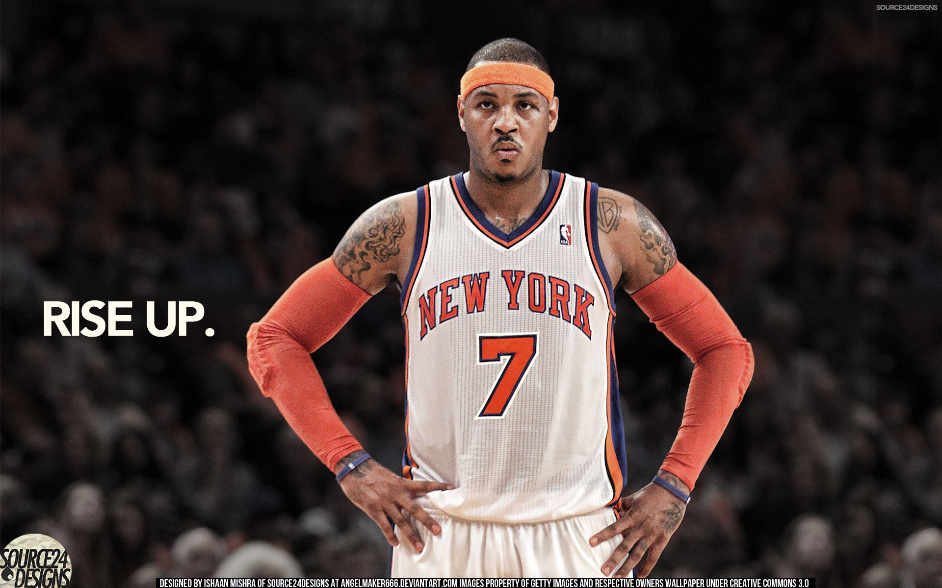 carmelo anthony knicks rise up by angelmaker deleym