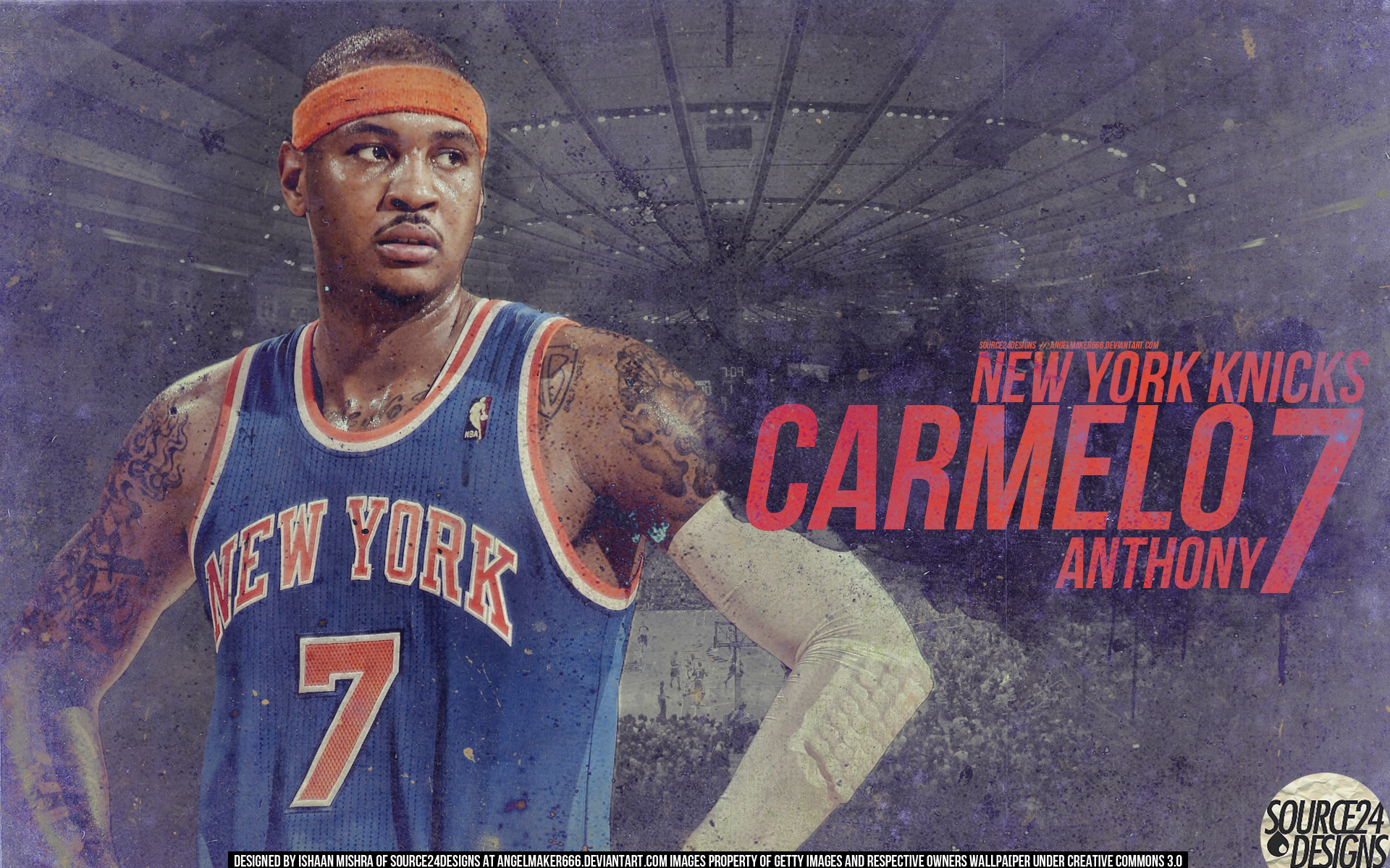 Carmelo Anthony Knicks Wall by Angelmaker666