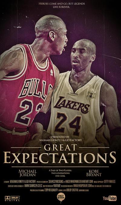 Michael Jordan And Kobe Bryant Poster By IshaanMishra