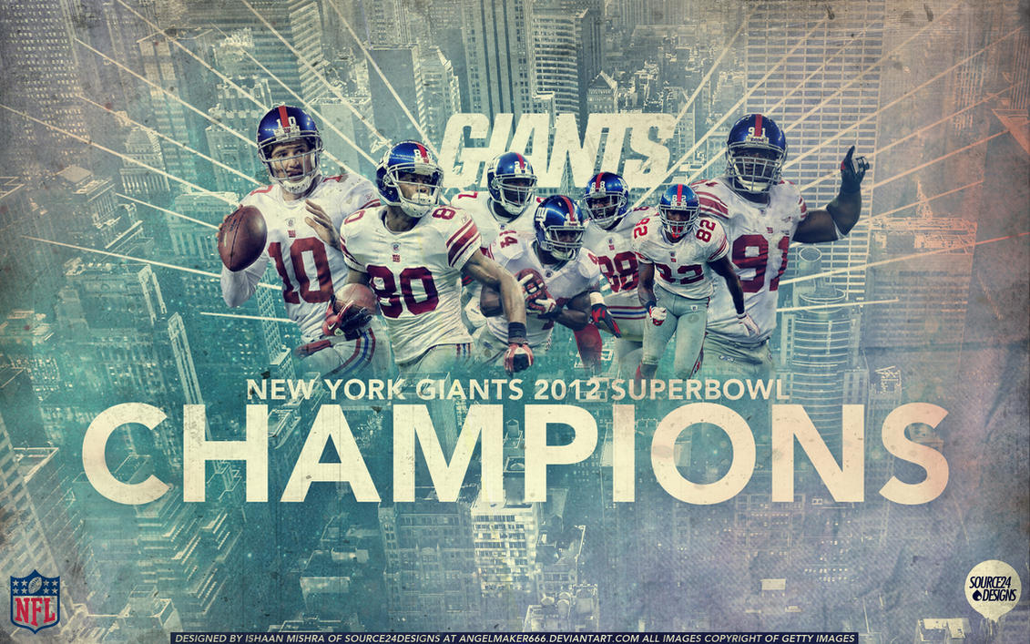 New York Giants 2012 Superbowl Champions Wallpaper by Angelmaker666