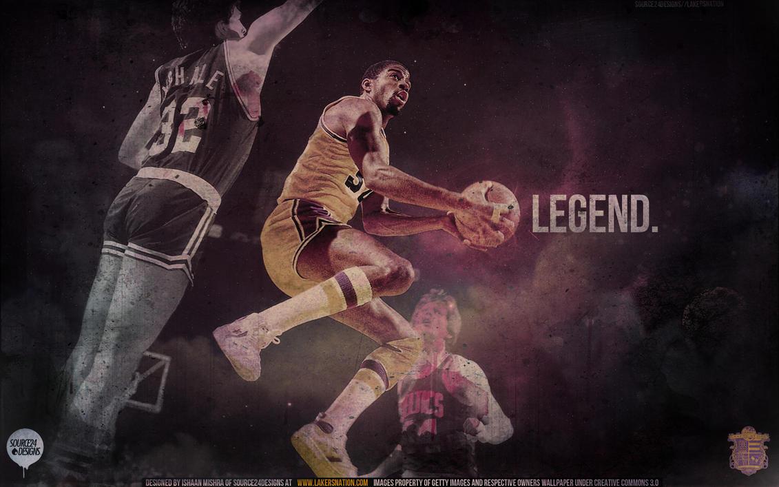 "Magic Johnson ""Legends"" Wallpaper | Posterizes | The Magazine"