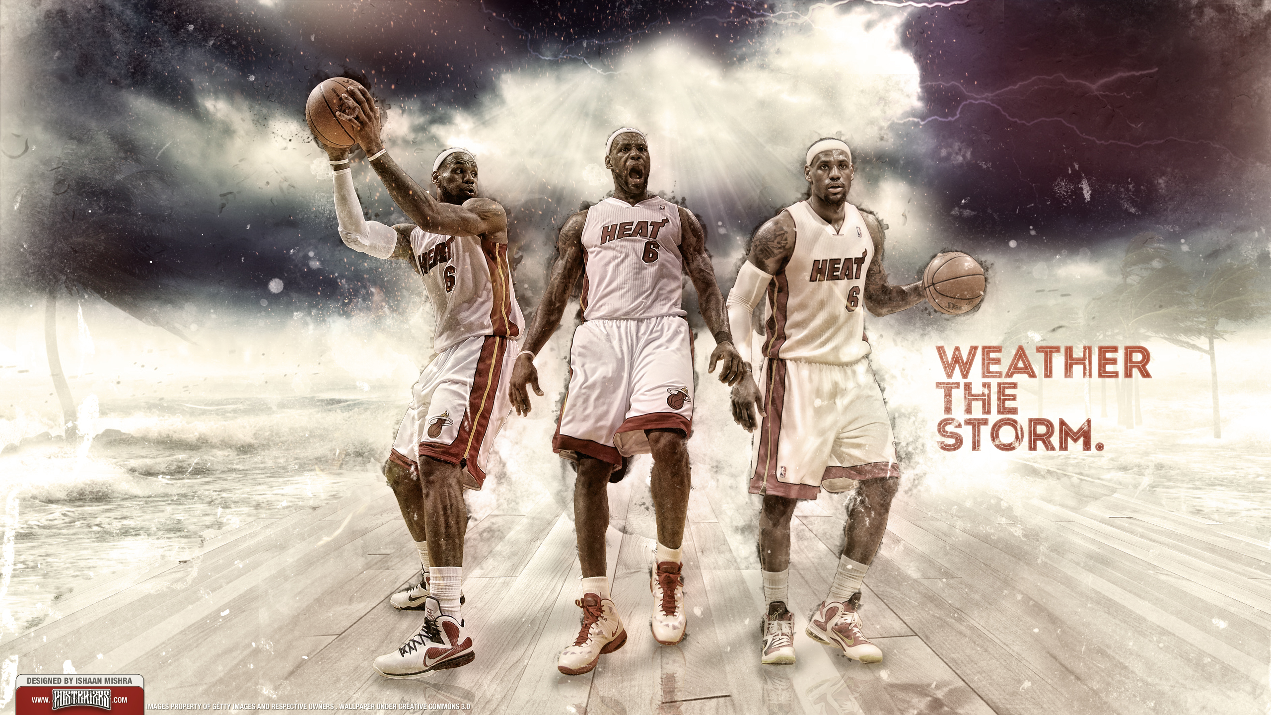 LeBron James 2012 Finals Wallpaper by IshaanMishra