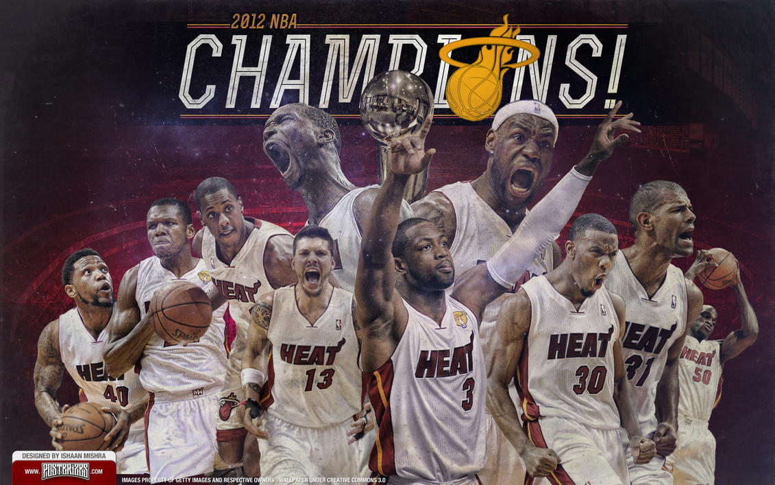 Miami Heat 2012 Champions Team Wallpaper by Angelmaker666