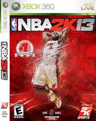 LeBron James NBA 2K13 Cover