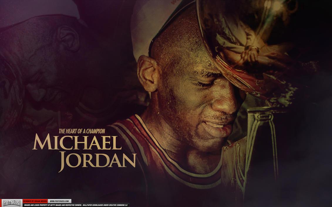 Michael Jordan Heart of a Champion Wallpaper by Angelmaker666