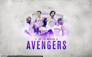 Los Angeles Lakers 2012 Avengers Wallpaper by IshaanMishra